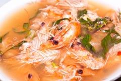 Sopa del camarón Fotografía de archivo libre de regalías