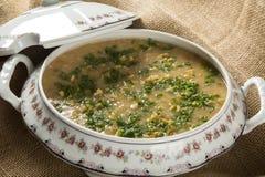 Sopa del cangrejo servida en un cuenco Fotografía de archivo libre de regalías