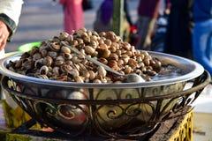 Sopa del caracol en Marrakesh Foto de archivo