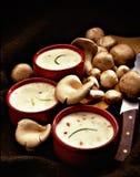 Sopa del ceam de Musroom imagen de archivo