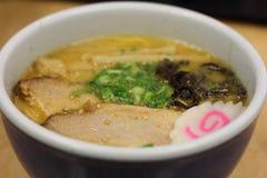 Sopa del cuenco de Naruto Imagen de archivo libre de regalías