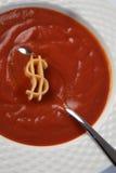 Sopa del dólar foto de archivo libre de regalías