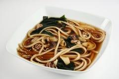 Sopa del japonés de los mariscos Fotos de archivo