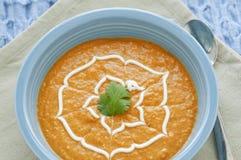 Sopa del jengibre de la zanahoria Foto de archivo