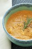 Sopa del jengibre de la zanahoria Fotos de archivo
