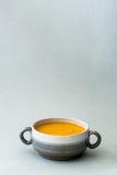 Sopa del jengibre de la zanahoria Imagen de archivo libre de regalías