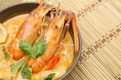 Sopa del kung del ñame de Tom Alimento tailandés - fritada #6 del Stir imagen de archivo