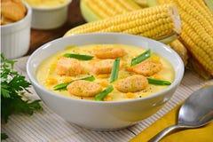 Sopa del maíz Fotografía de archivo
