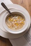Sopa del maíz dulce del pollo foto de archivo libre de regalías