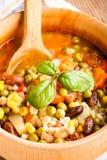 Sopa del Minestrone Imagen de archivo libre de regalías