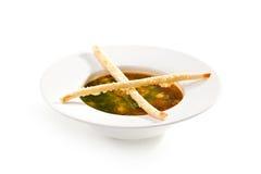 Sopa del minestrone Imágenes de archivo libres de regalías