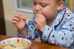 Sopa del niño Fotos de archivo
