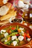 Sopa del pollo y vegetal Fotos de archivo libres de regalías