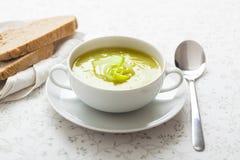 Sopa del puerro Imagen de archivo libre de regalías