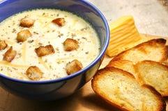 Sopa del queso Fotos de archivo