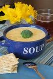 Sopa del queso Imagen de archivo libre de regalías