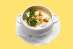 Sopa del queso Fotos de archivo libres de regalías