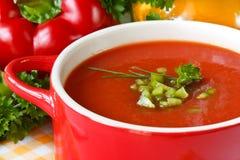 Sopa del tomate. Foto de archivo