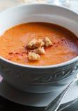 Sopa del tomate Imagen de archivo libre de regalías