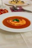 Sopa del tomate Imagenes de archivo