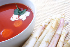 Sopa del tomate Fotografía de archivo libre de regalías
