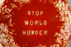 Sopa del tomate con el mensaje Imagen de archivo