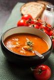 Sopa del tomate con las albóndigas Imágenes de archivo libres de regalías