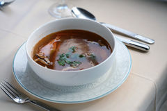 Sopa deliciosa Foto de archivo