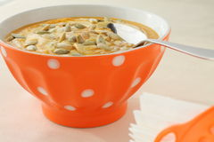 Sopa deliciosa da abóbora Fotos de Stock Royalty Free