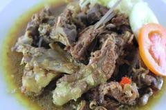 Sopa deliciosa de la carne Foto de archivo libre de regalías