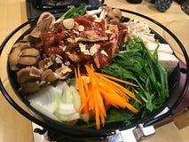 Sopa deliciosa de Nabe do japonês Foto de Stock Royalty Free