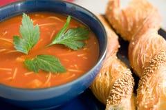 Sopa deliciosa do tomate Foto de Stock Royalty Free