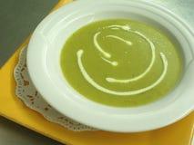 Sopa do alho-porro Imagens de Stock Royalty Free