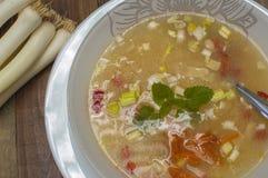 Sopa do alho-porro Imagens de Stock