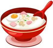 Sopa do arroz com ovo ilustração royalty free
