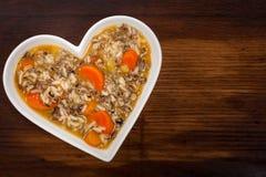 Sopa do arroz selvagem Imagens de Stock