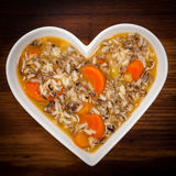 Sopa do arroz selvagem Imagens de Stock Royalty Free