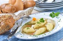 Sopa do bolinho de massa do Semolina Fotografia de Stock Royalty Free