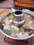 Sopa do camarão, Tom Yum Goong, alimento de Tailândia fotos de stock