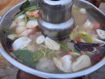 Sopa do camarão, Tom Yum Goong, alimento de Tailândia foto de stock royalty free