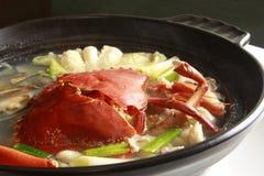 Sopa do caranguejo com marisco Fotos de Stock Royalty Free