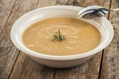Sopa do creme da cenoura-abóbora do vegetariano Foto de Stock Royalty Free