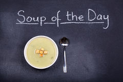Sopa do dia Fotos de Stock Royalty Free