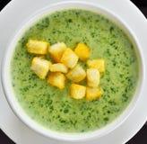 Sopa do espinafre Imagem de Stock