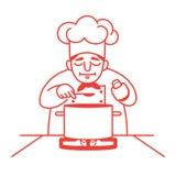 Sopa do gosto do cozinheiro chefe Imagem de Stock Royalty Free
