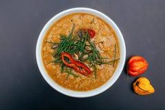 Sopa do inverno com pimentas fotos de stock