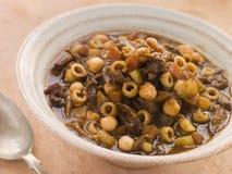 Sopa do inverno do rabo de boi e do grão-de-bico Imagem de Stock Royalty Free