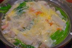 Sopa do marisco Fotos de Stock Royalty Free