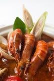 Sopa do marisco de Tom yum imagem de stock