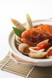Sopa do marisco de Tom yum foto de stock